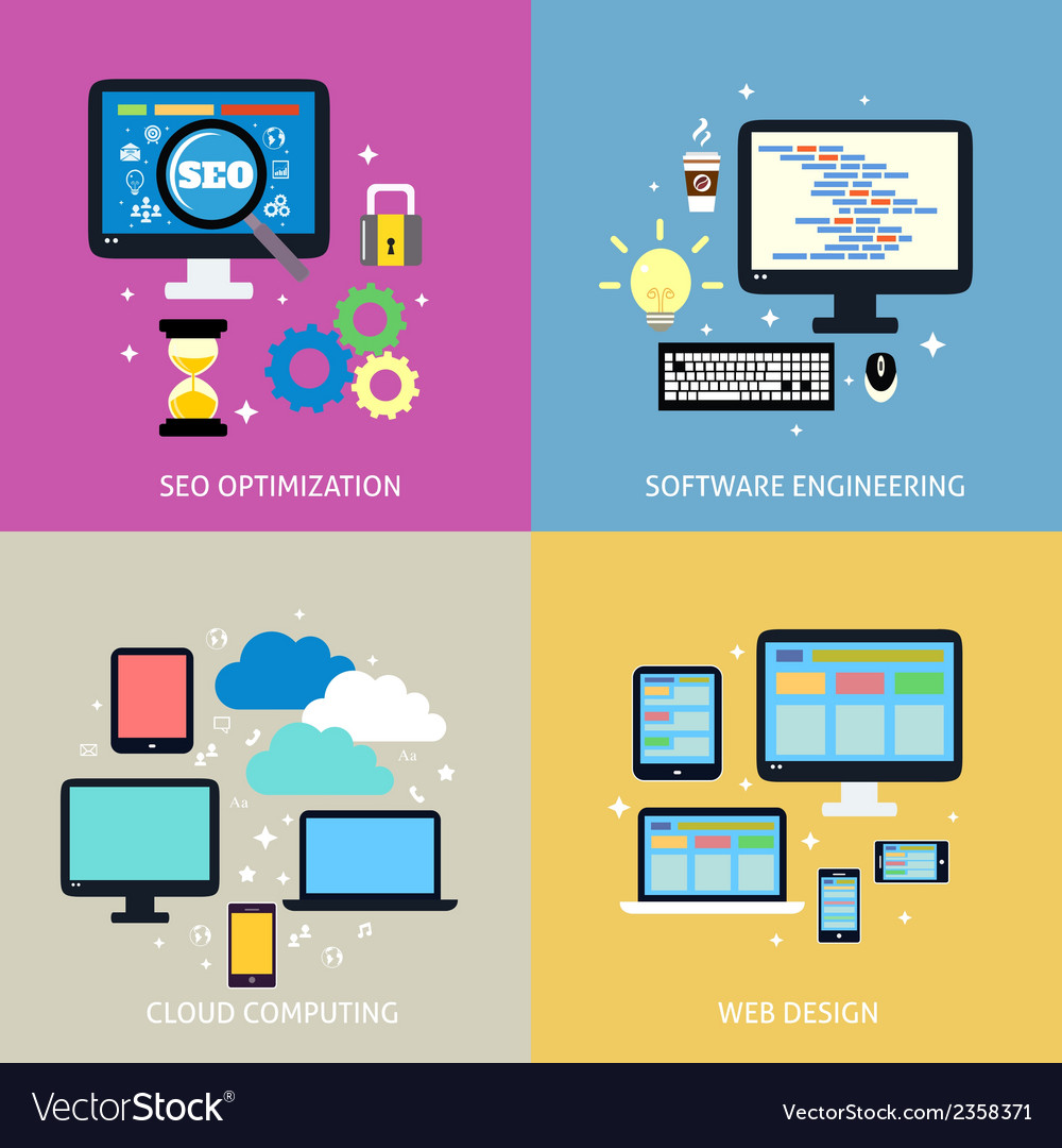 Business process concept flat vector | Price: 1 Credit (USD $1)