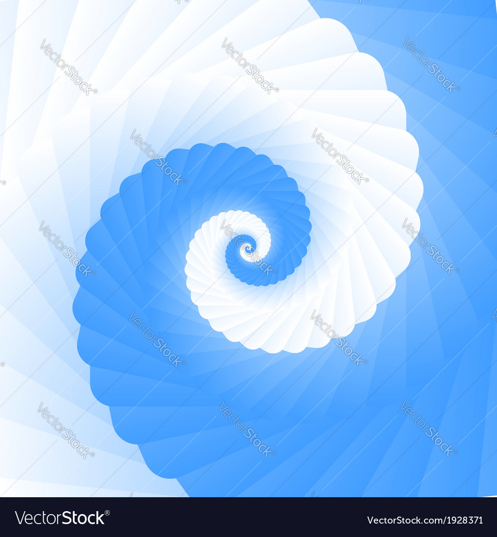 Double colored twirl - white and blue vector | Price: 1 Credit (USD $1)