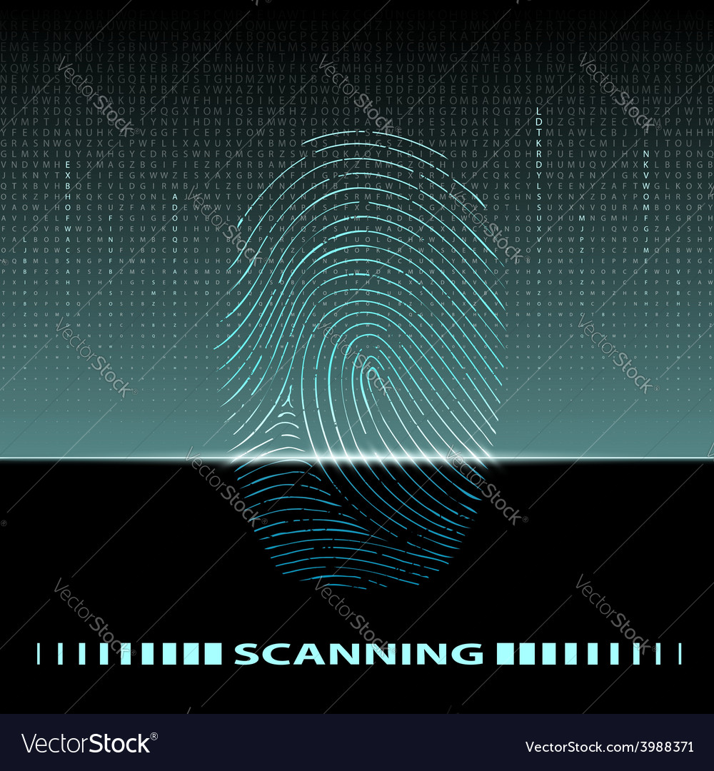 Fingerprint scan vector | Price: 1 Credit (USD $1)