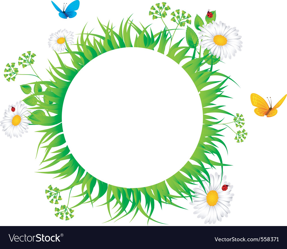 Grass border vector | Price: 1 Credit (USD $1)