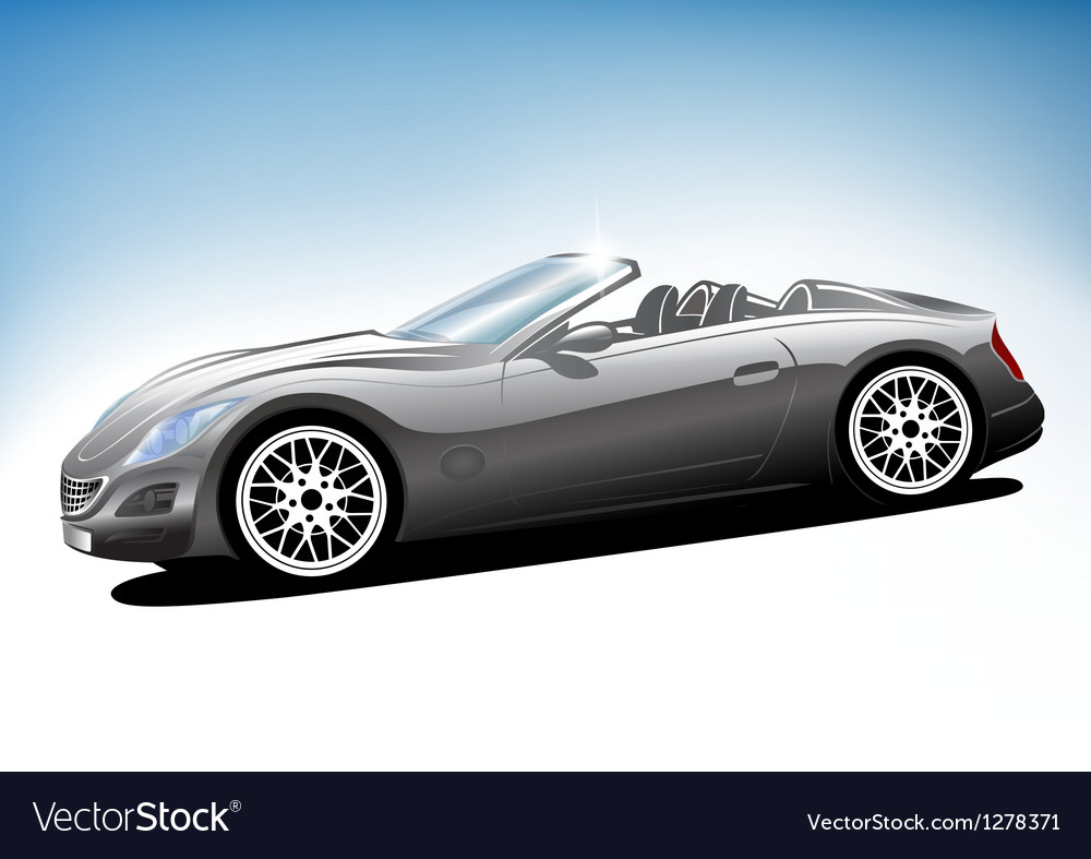 Grey sport car vector | Price: 1 Credit (USD $1)