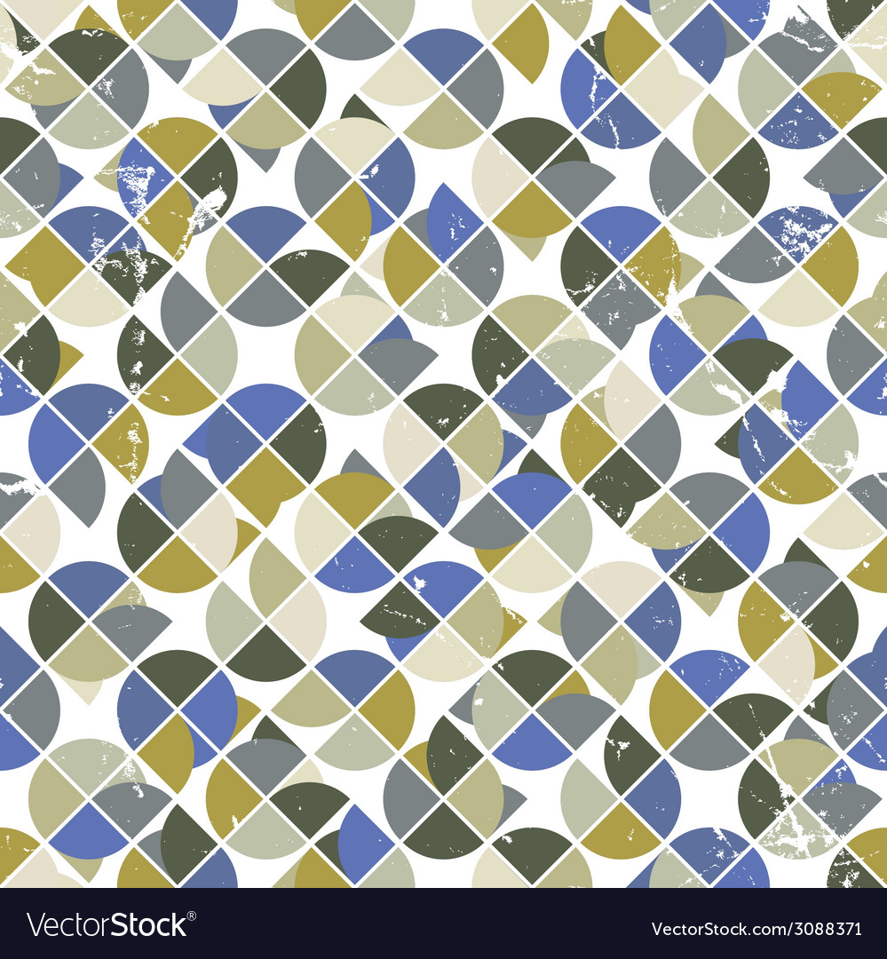 Seamless aged tiles abstract background background vector | Price: 1 Credit (USD $1)