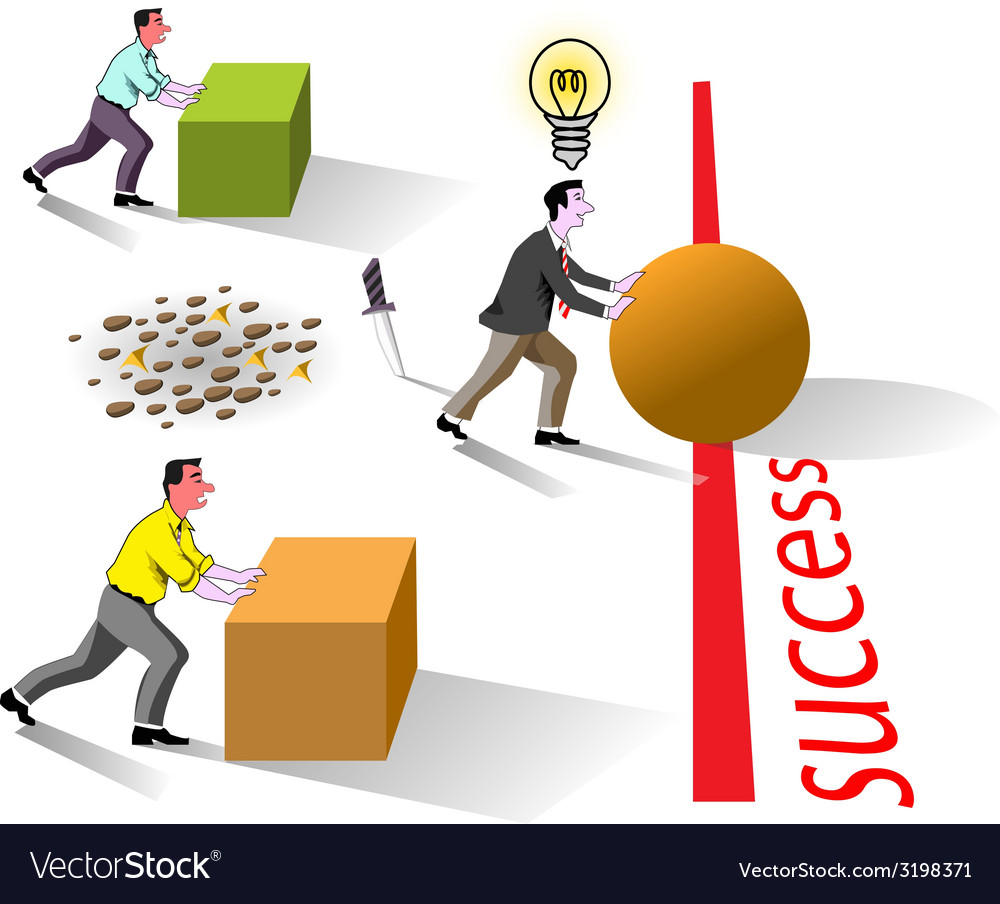 Success brain works vector | Price: 1 Credit (USD $1)