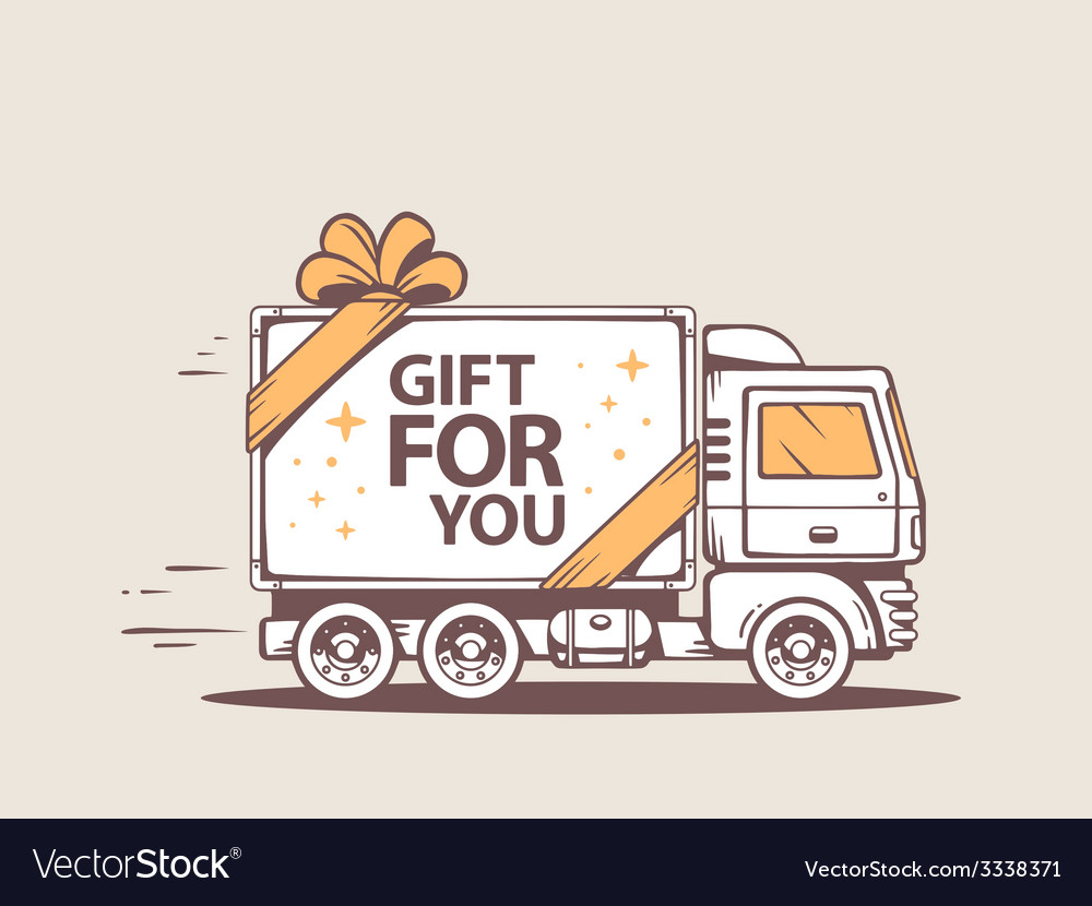 Truck free and fast delivering gift for c vector | Price: 3 Credit (USD $3)
