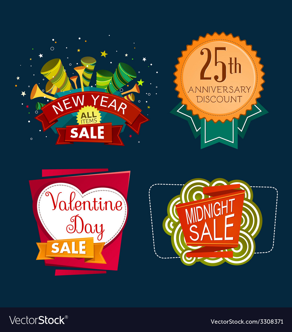 Various sale event tittle vector | Price: 1 Credit (USD $1)