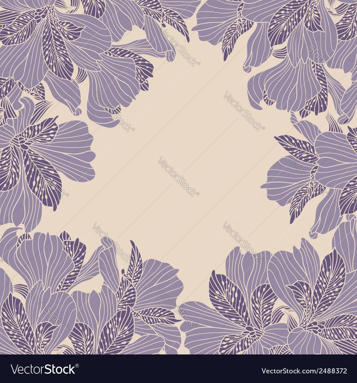 Alstroemeria flower frame vector | Price: 1 Credit (USD $1)