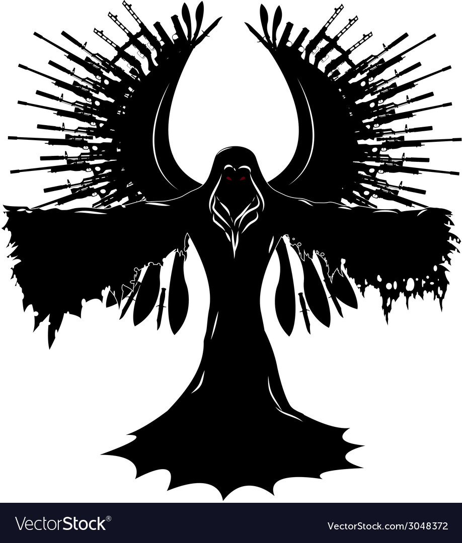 Angel of war vector | Price: 1 Credit (USD $1)