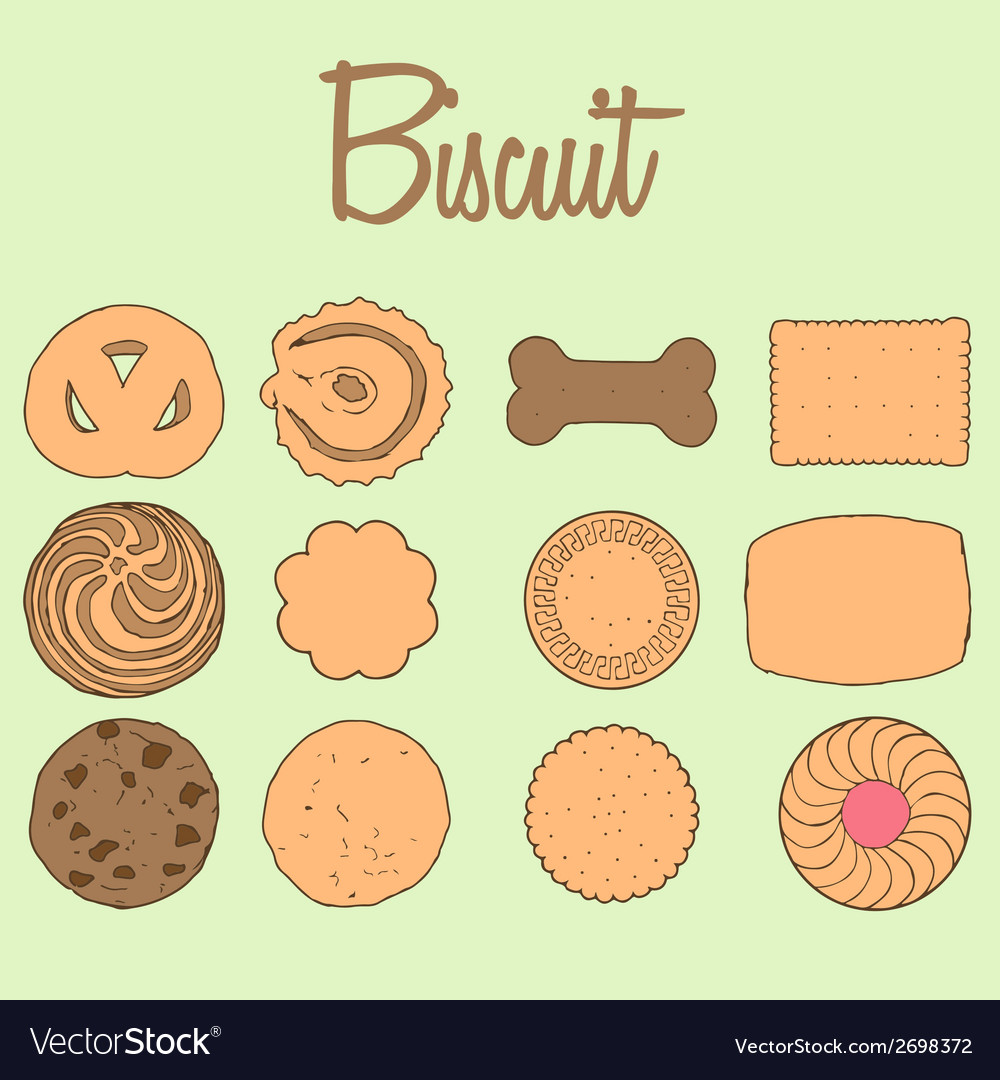 Biscuit collection vector | Price: 1 Credit (USD $1)