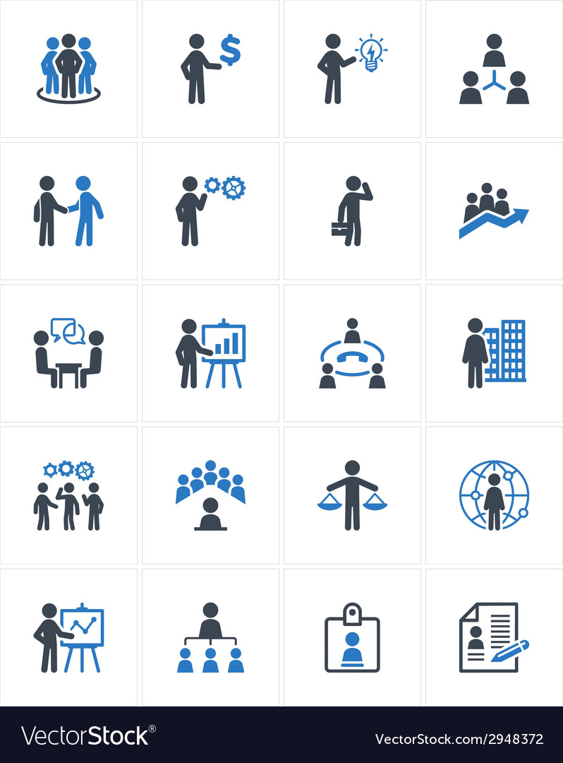 Business management icons - blue series vector | Price: 1 Credit (USD $1)