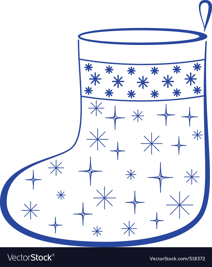 Christmas stocking with furtrees pictogram vector | Price: 1 Credit (USD $1)