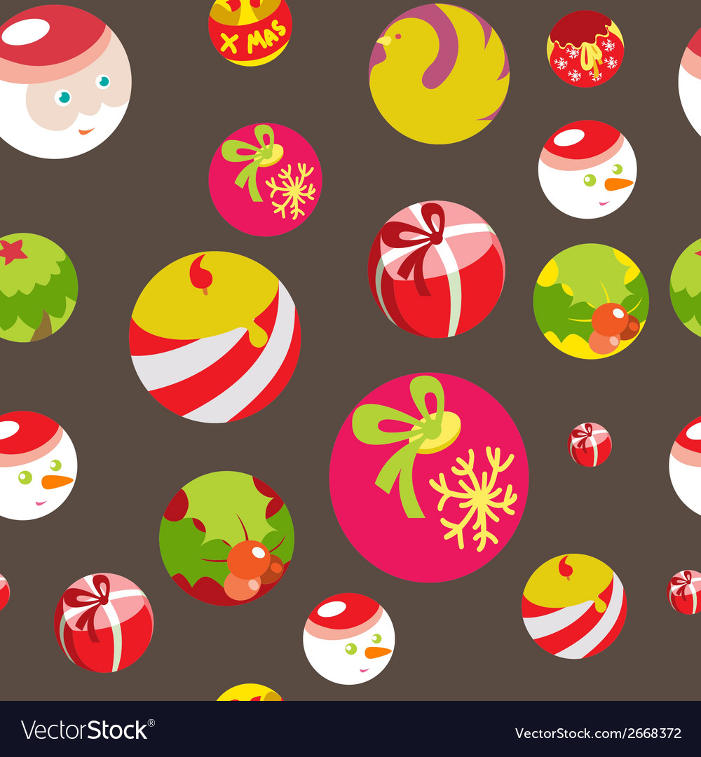 Colorful flat christmas seamless background vector | Price: 1 Credit (USD $1)