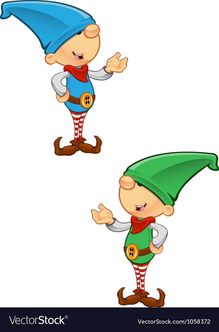 Elf mascot presenting vector | Price: 1 Credit (USD $1)