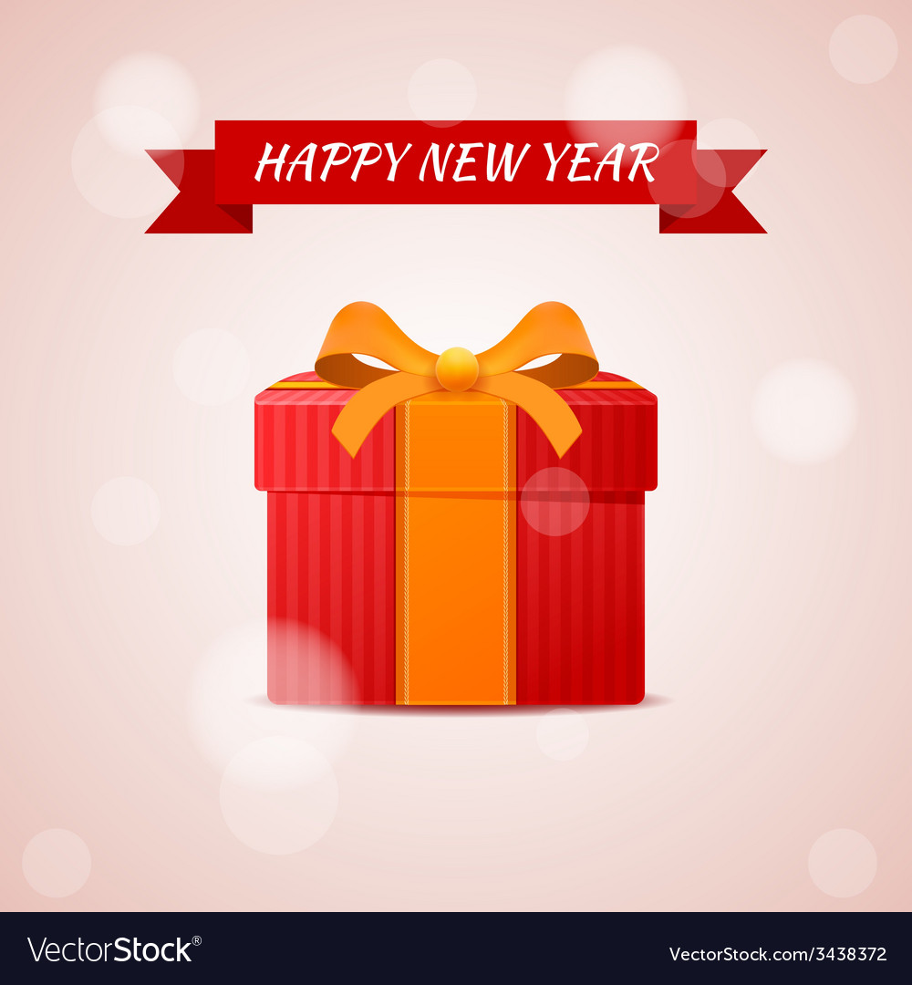 Happy new year abstract gift vector | Price: 1 Credit (USD $1)
