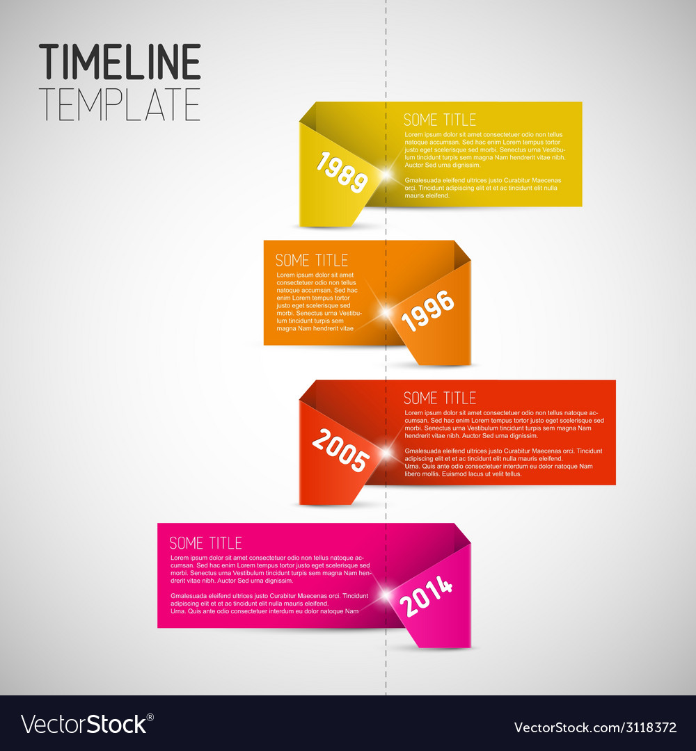Infographic timeline report template made from vector | Price: 1 Credit (USD $1)