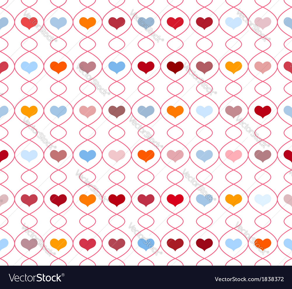 Pattern with repeating hearts vector | Price: 1 Credit (USD $1)