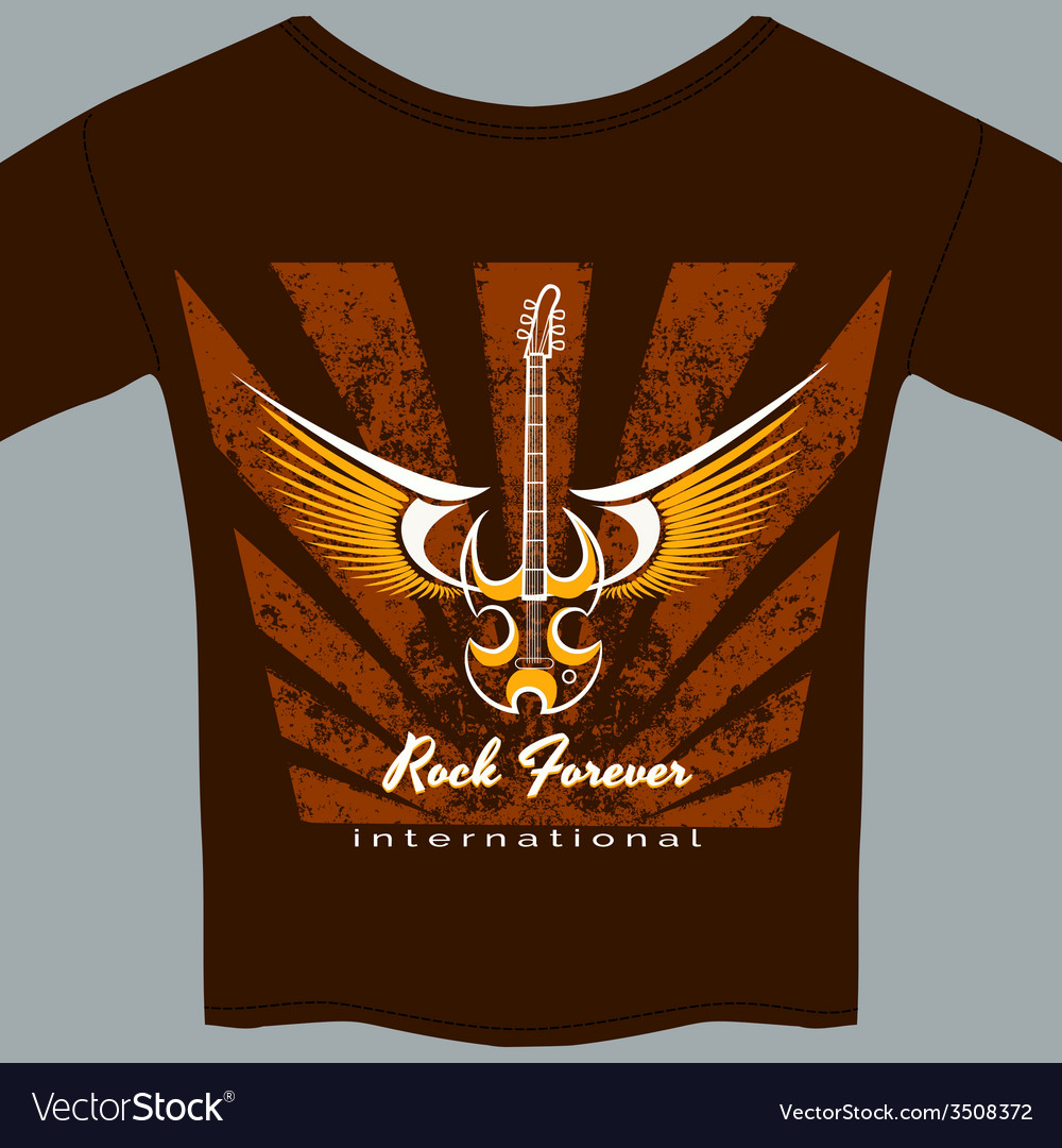 Rock fan tee shirt vector | Price: 1 Credit (USD $1)