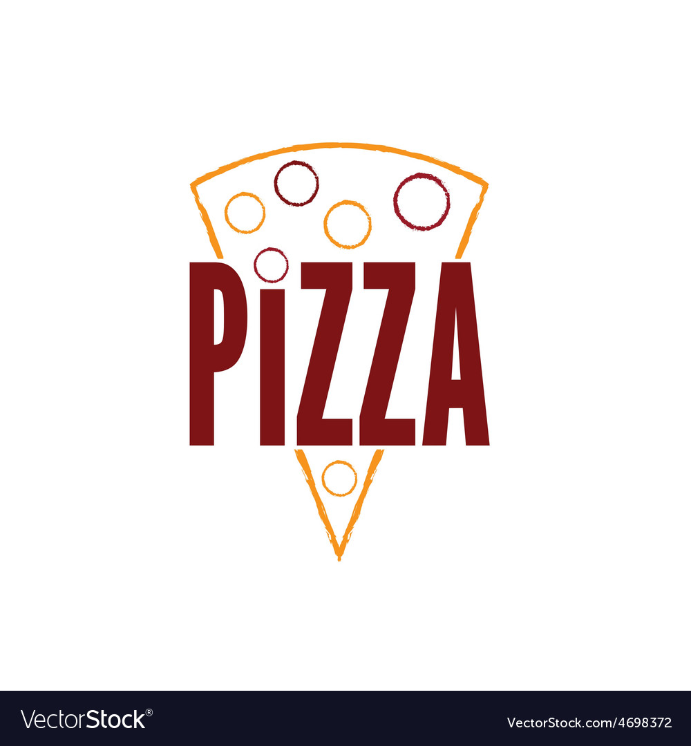 Slice of pizza design template vector   Price: 1 Credit (USD $1)