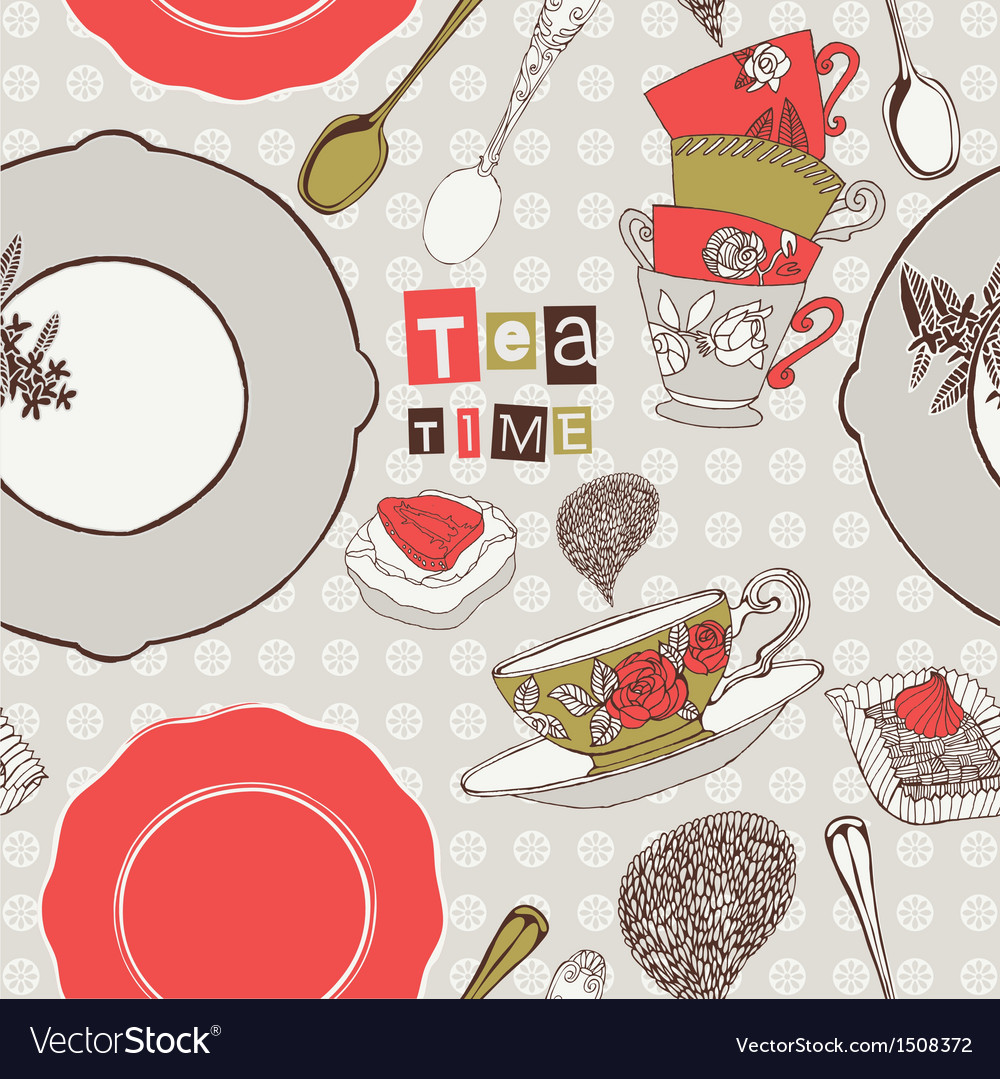 Tea time vector | Price: 3 Credit (USD $3)