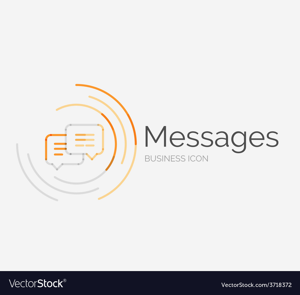 Thin line neat design logo messages concept vector | Price: 1 Credit (USD $1)