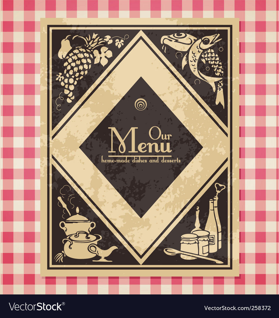 Vintage menu or bookcover vector | Price: 1 Credit (USD $1)