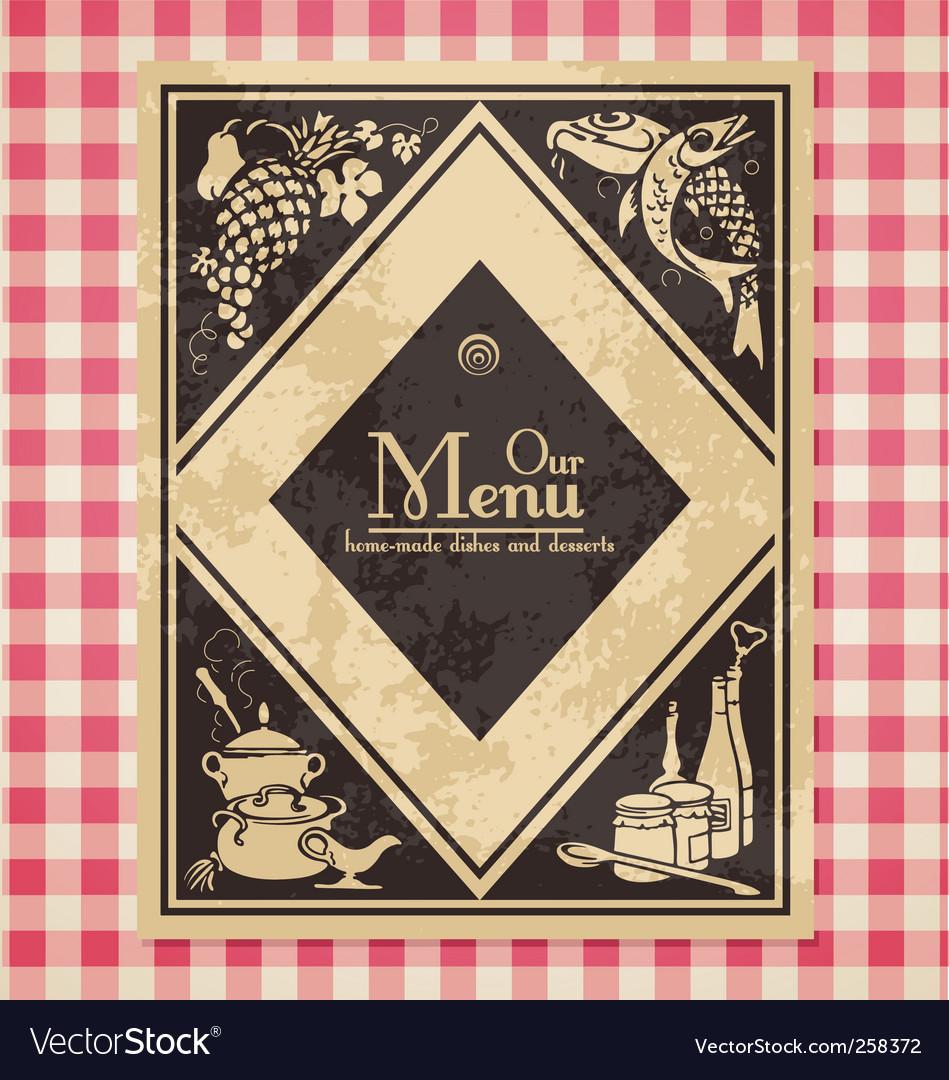 Vintage menu or bookcover vector | Price: 1 Credit (USD $1)