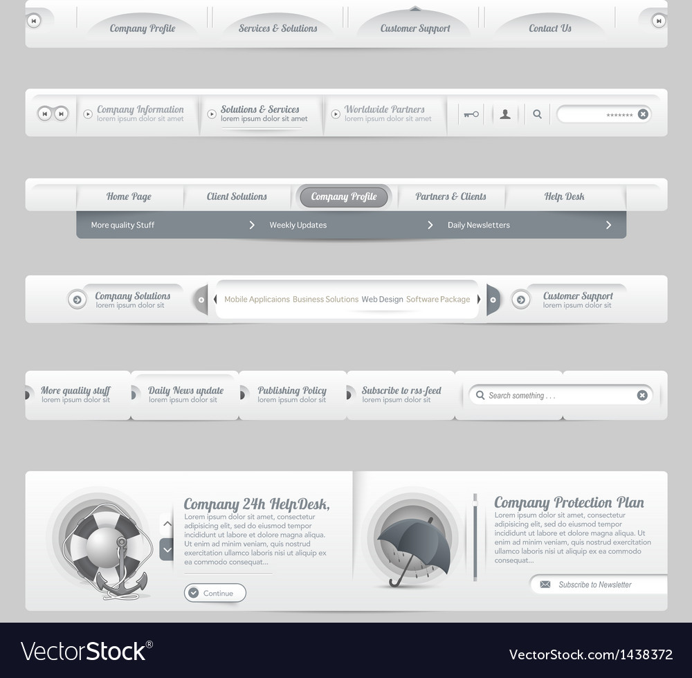 Web site design menu vector | Price: 1 Credit (USD $1)