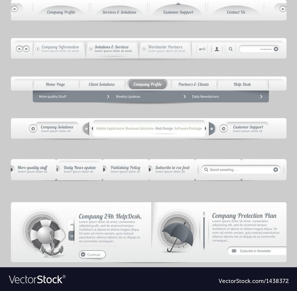 Web site design menu vector | Price: 1 Credit (USD $1)