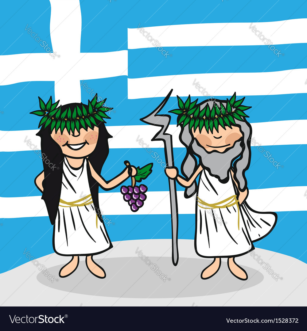 Welcome to greece people vector | Price: 1 Credit (USD $1)