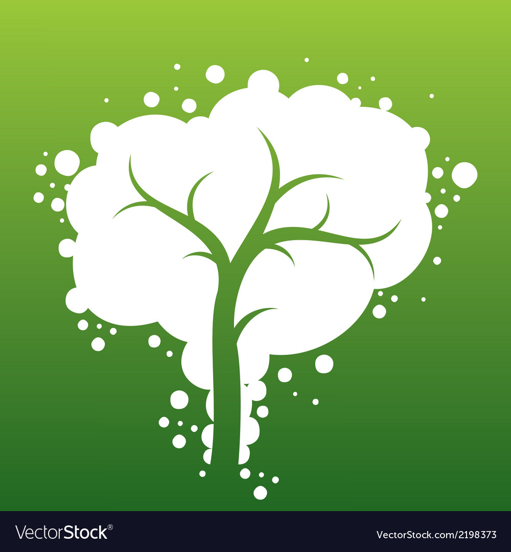 Abstract white bubble tree vector | Price: 1 Credit (USD $1)