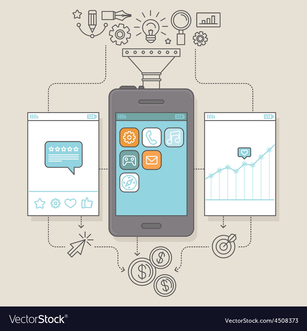 App promotion and marketing vector