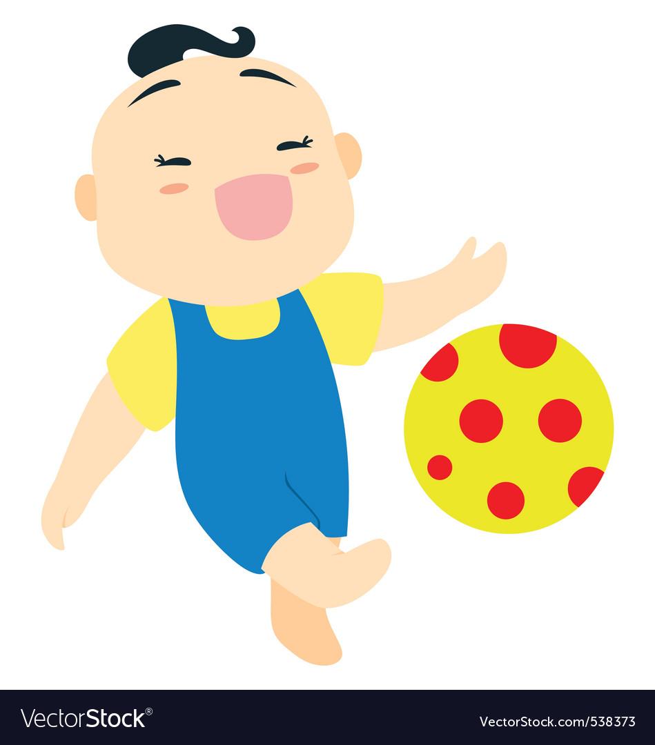 Baby boy football vector | Price: 1 Credit (USD $1)