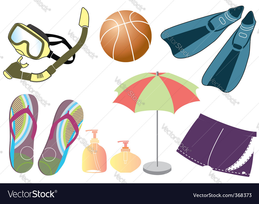 Beach things vector   Price: 1 Credit (USD $1)