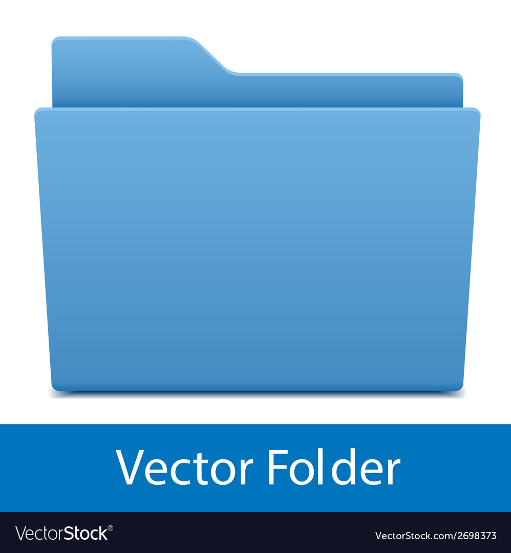 Blue computer folder isolated vector | Price: 1 Credit (USD $1)