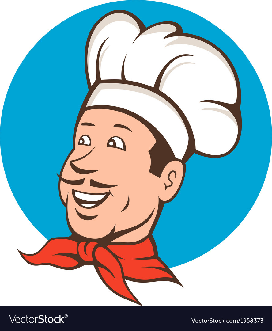 Chef cook baker smiling cartoon vector | Price: 1 Credit (USD $1)
