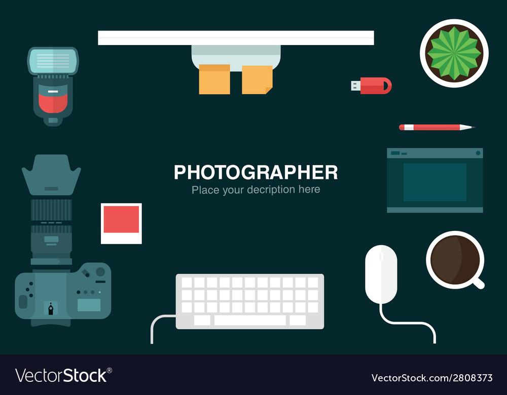 Desk header vector