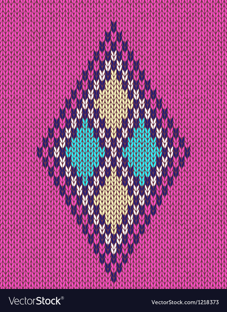 Geometric color knitted pattern vector | Price: 1 Credit (USD $1)