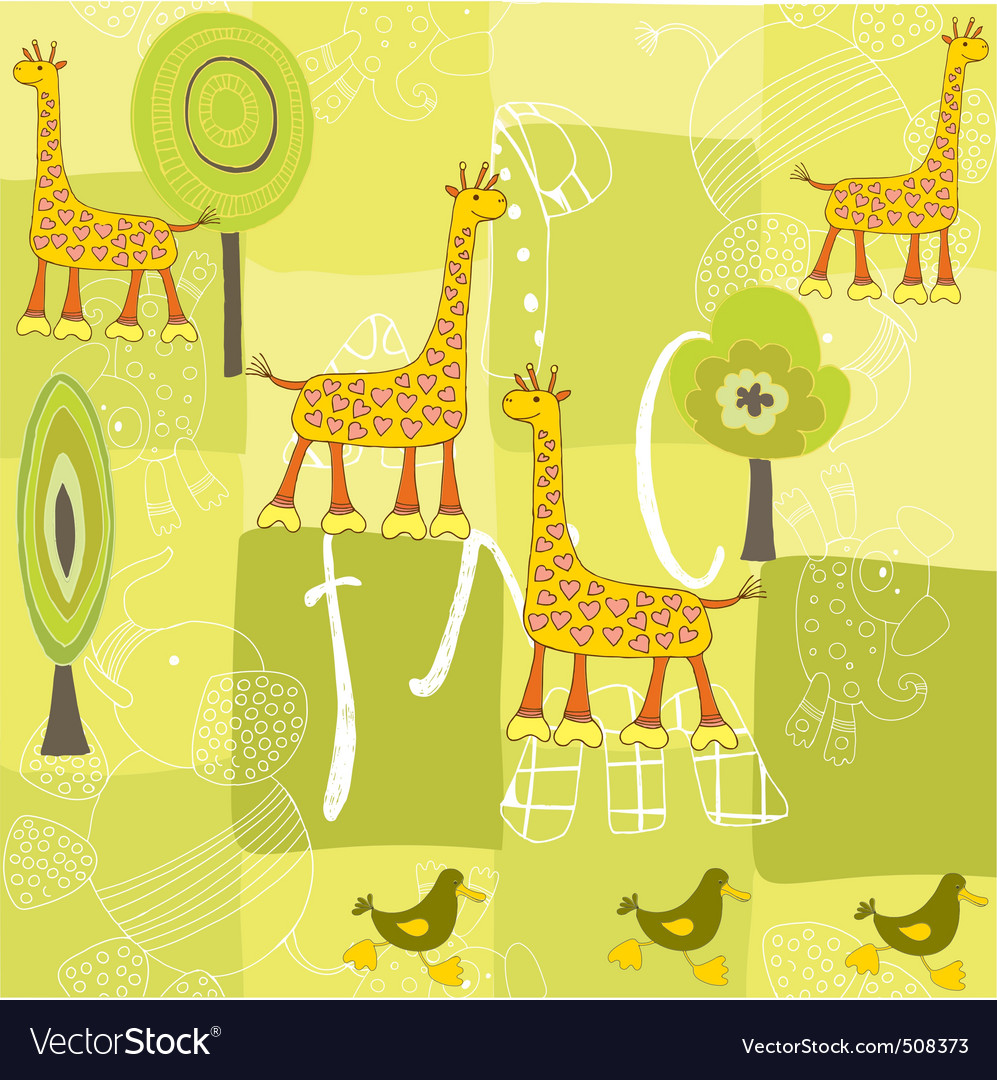 Giraffe pattern vector | Price: 1 Credit (USD $1)
