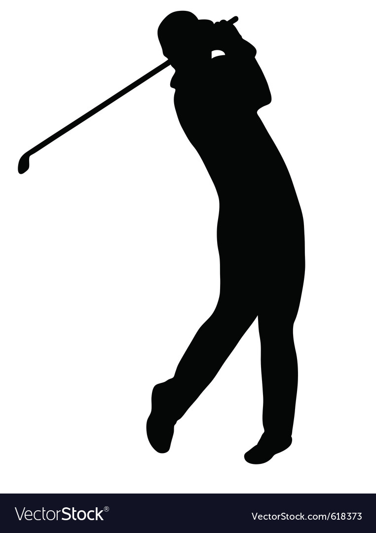 Golfer silhouette vector | Price: 1 Credit (USD $1)