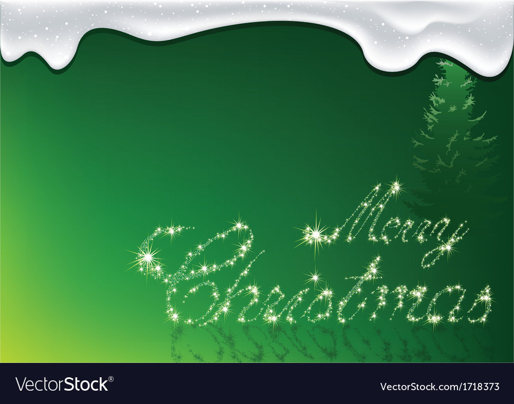 Green merry christmas vector | Price: 1 Credit (USD $1)