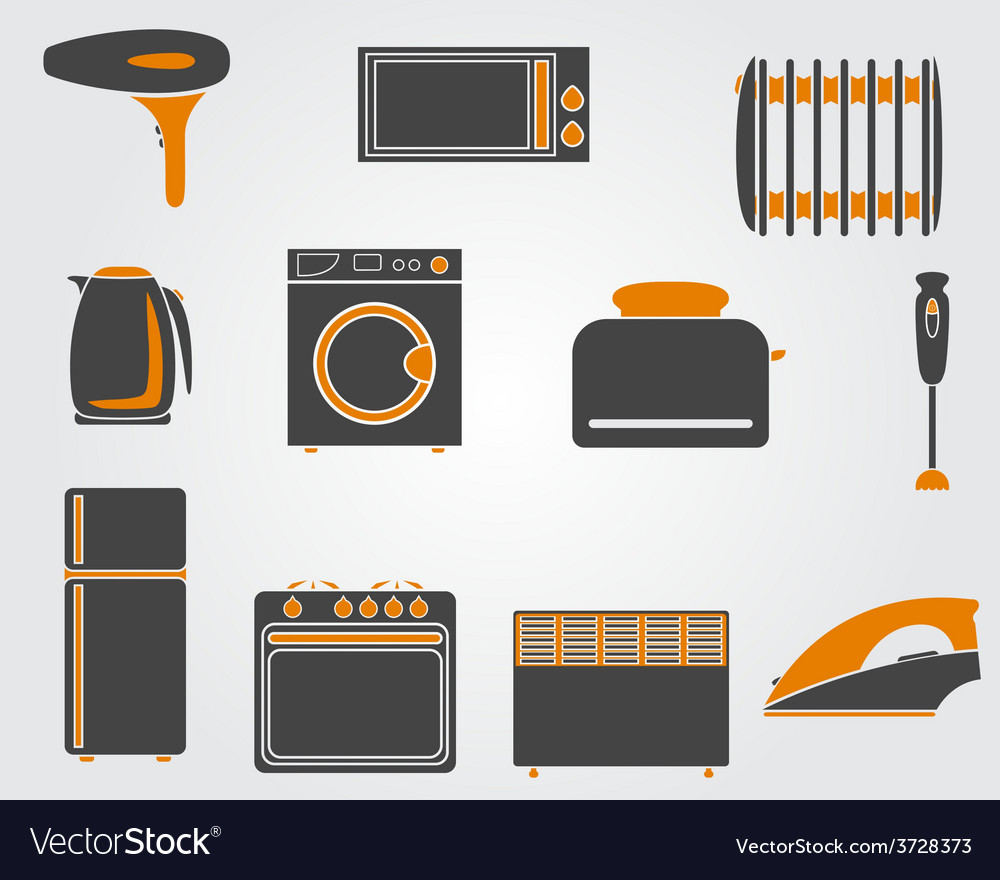 Kitchen simple icons vector