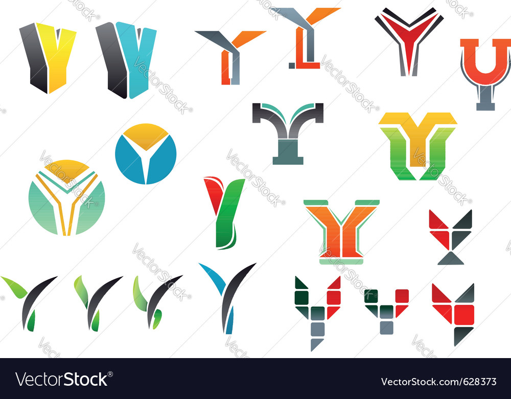 Letter y alphabet symbols vector | Price: 1 Credit (USD $1)