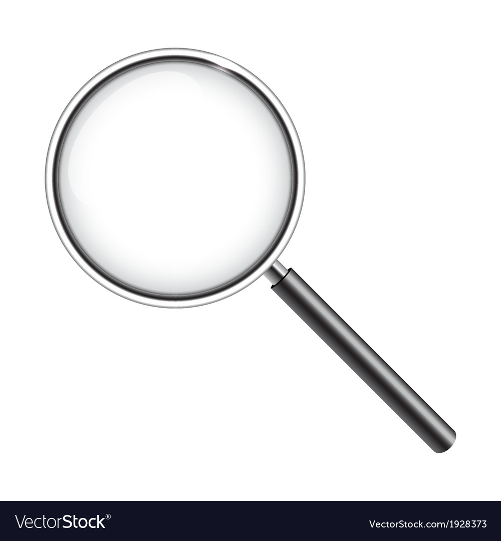 Magnifying glass isolated on white vector | Price: 1 Credit (USD $1)
