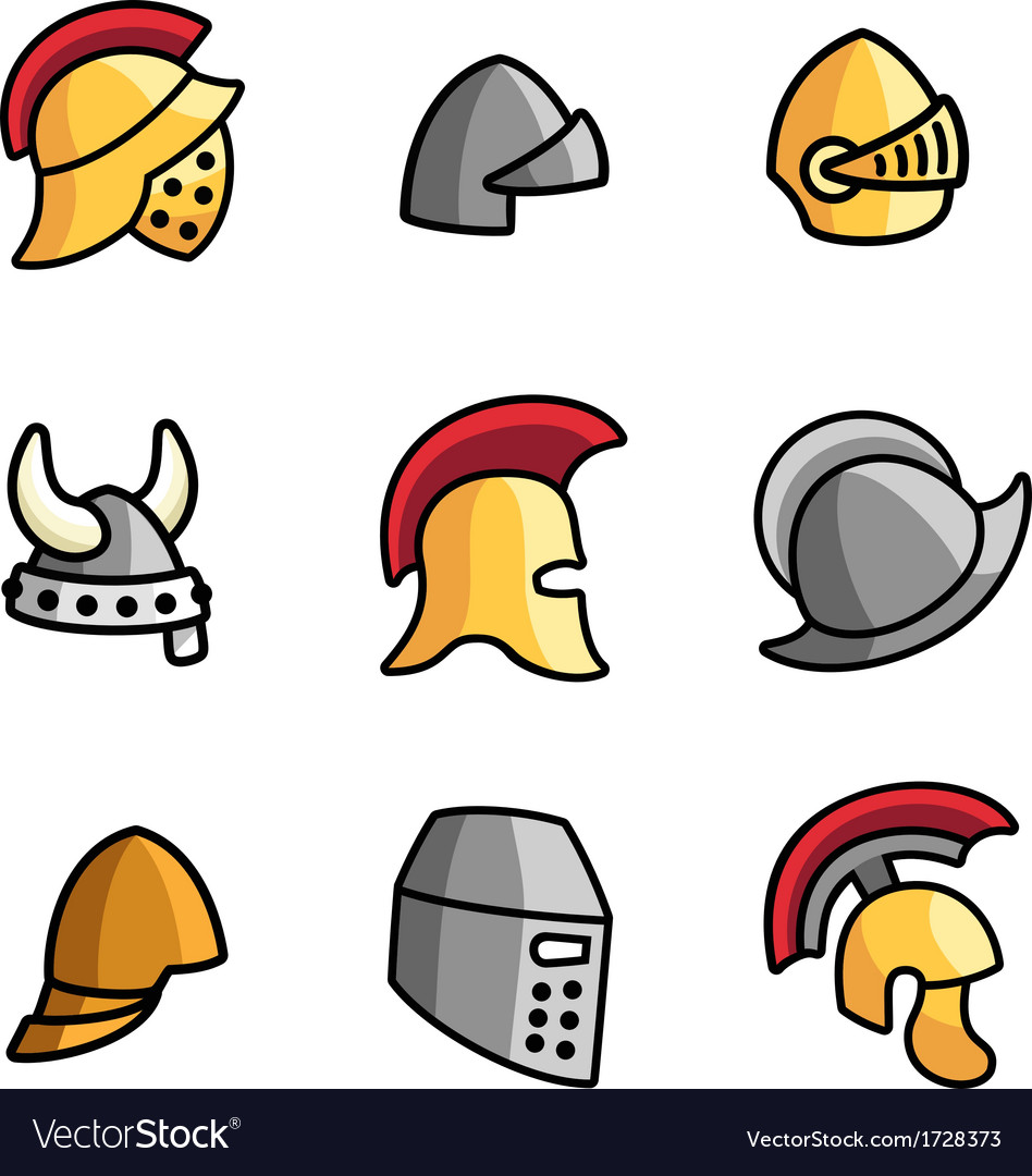 Old helmets vector | Price: 1 Credit (USD $1)