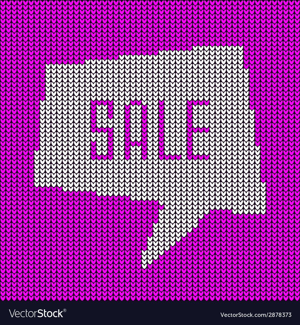 Pink knitted sale bubble vector | Price: 1 Credit (USD $1)