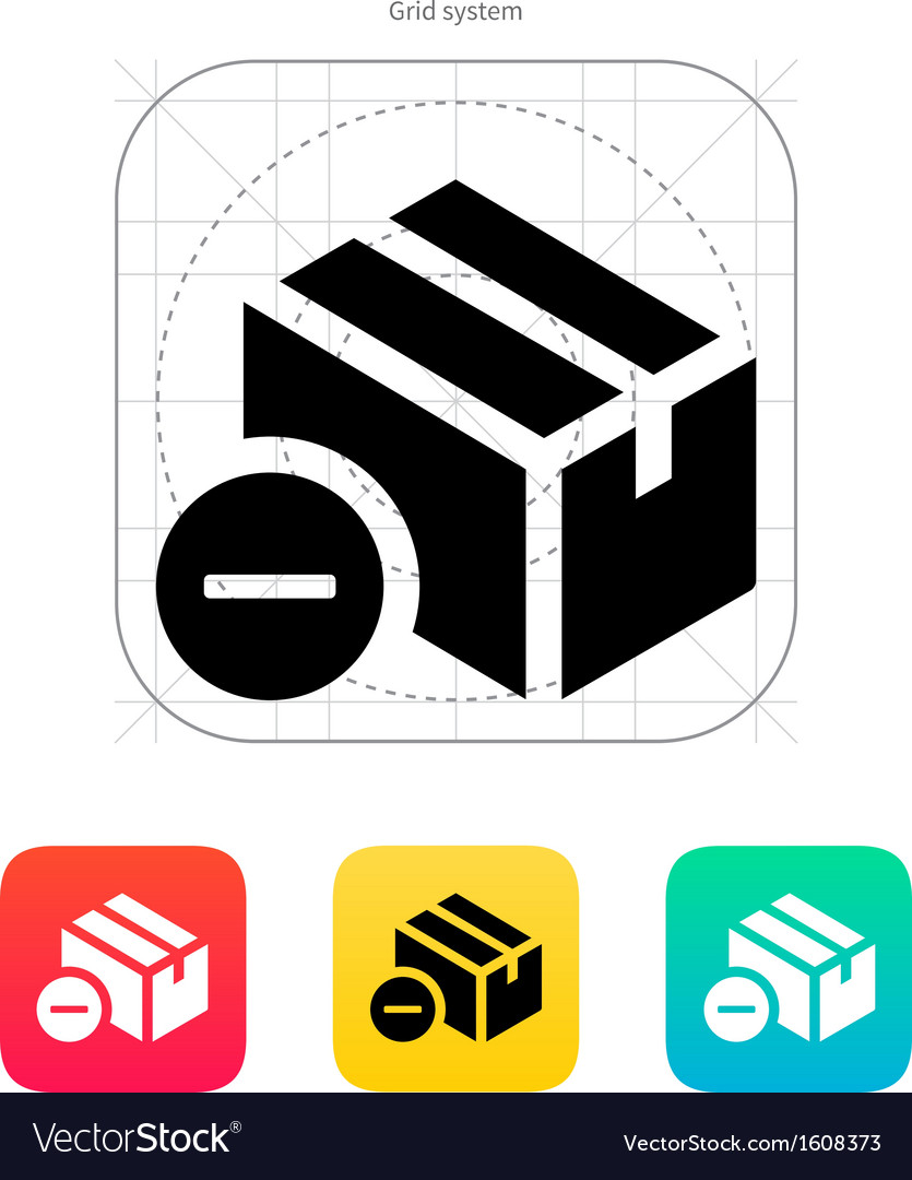 Remove box icon vector | Price: 1 Credit (USD $1)