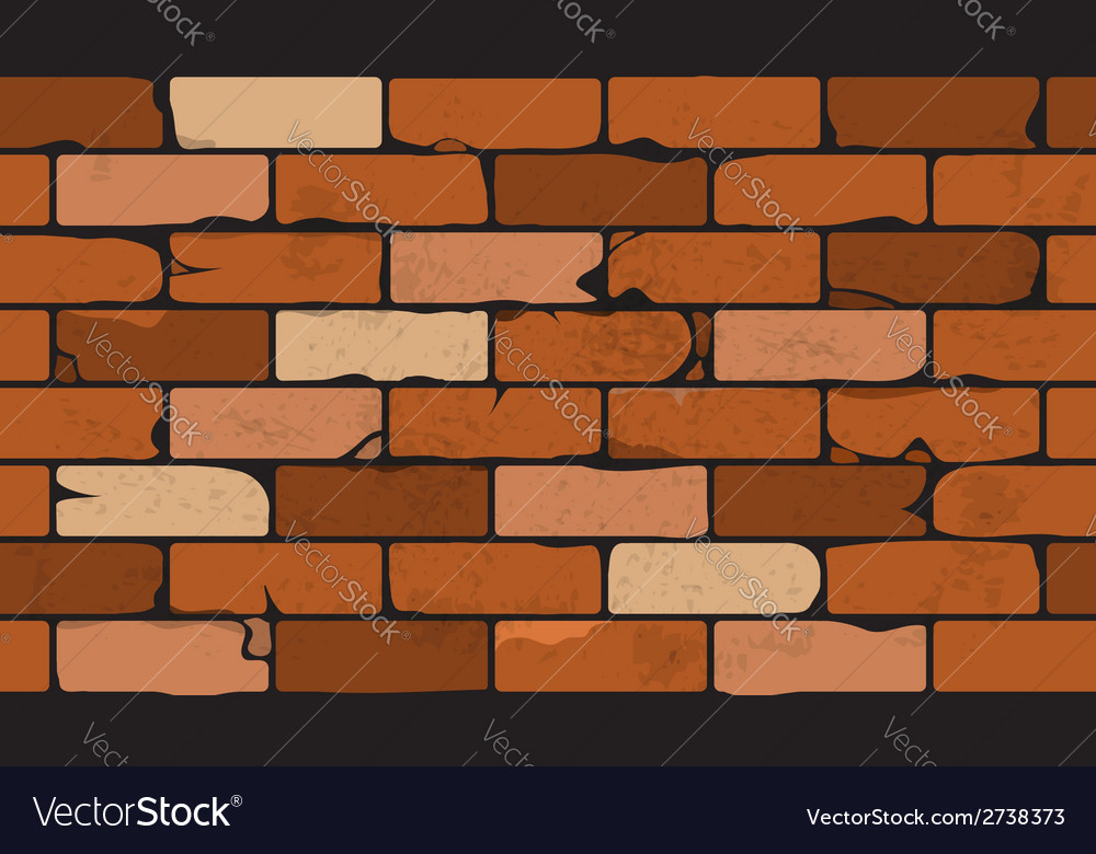 Seamless pattern of a face brick wall vector | Price: 1 Credit (USD $1)