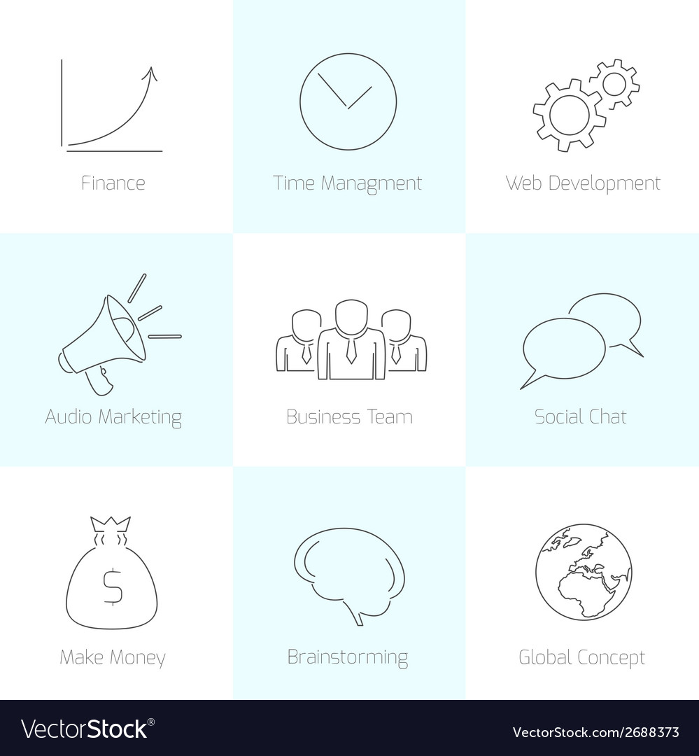 Set of line business icons vector | Price: 1 Credit (USD $1)