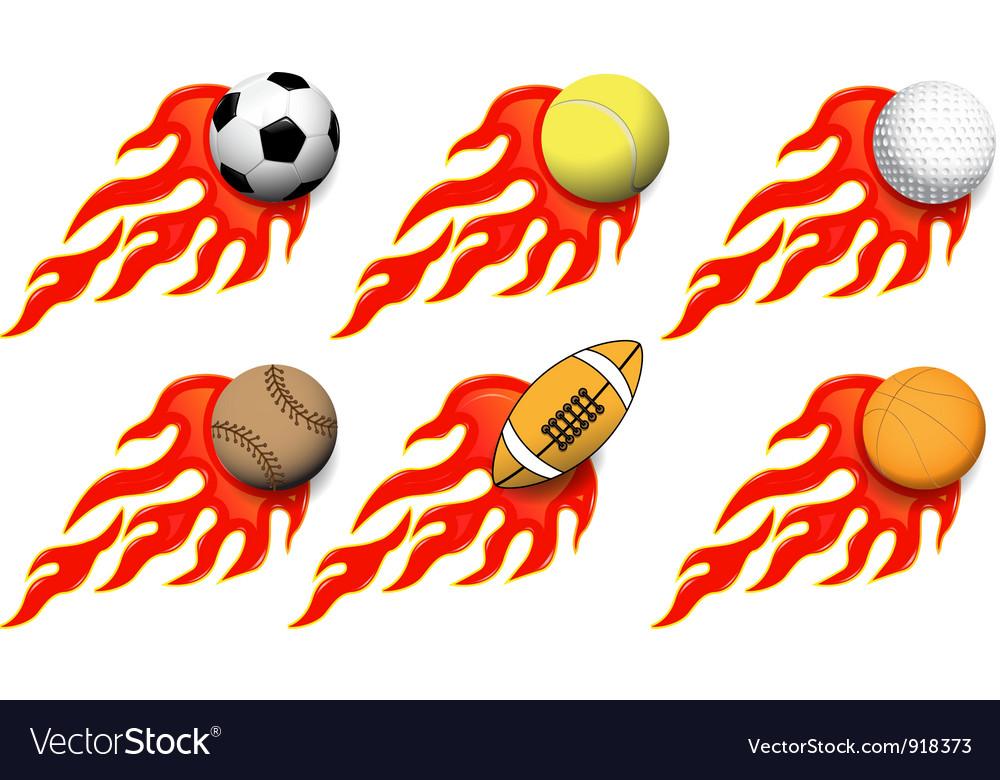Sports balls vector | Price: 3 Credit (USD $3)