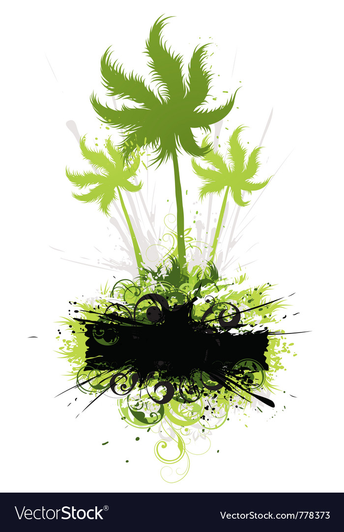 Tropical vegetation vector | Price: 1 Credit (USD $1)