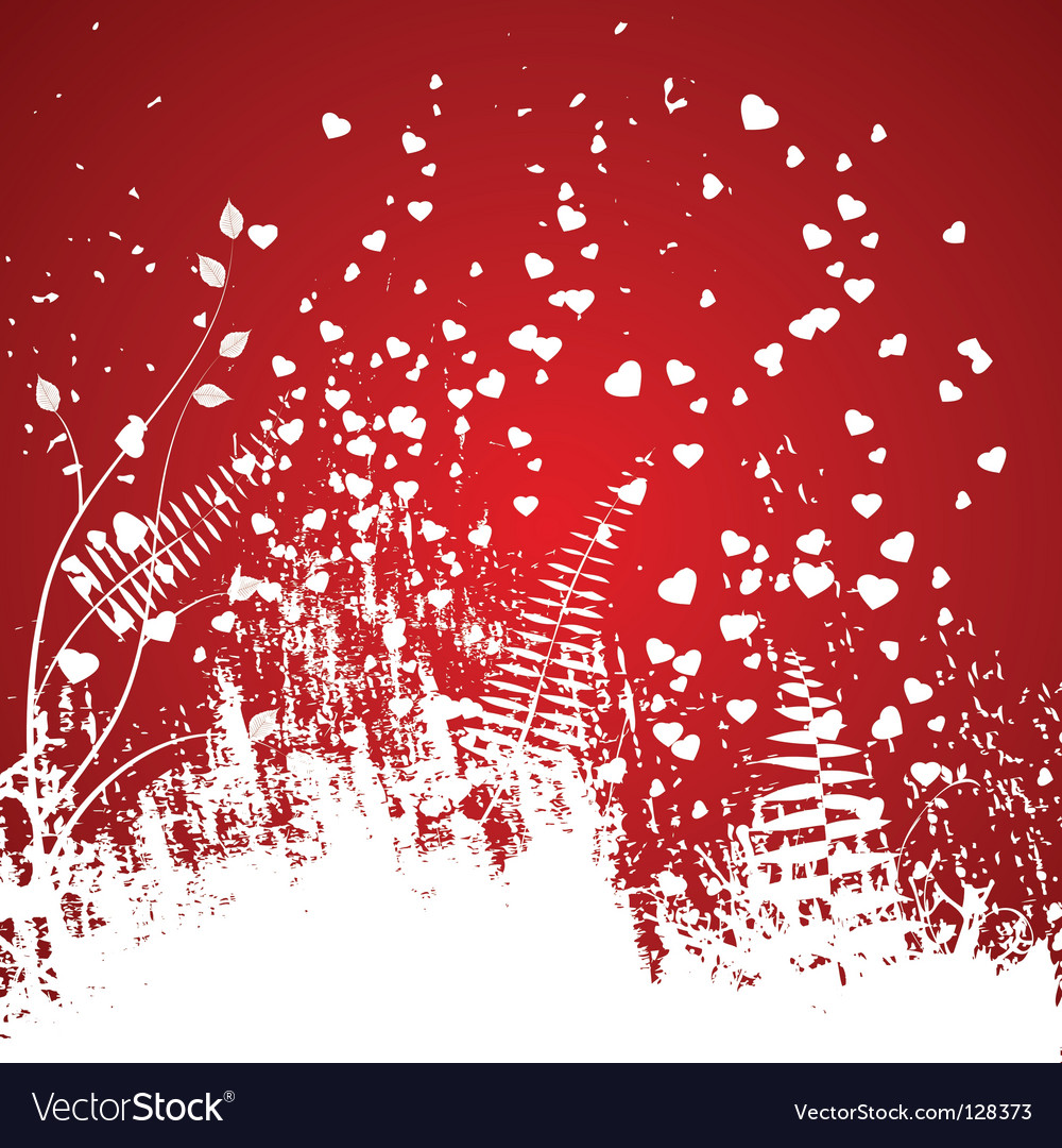 Valentines day abstract with hearts vector | Price: 1 Credit (USD $1)